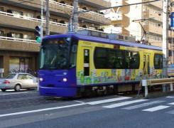 ↑新宿区内の早稲田と台東区の三ノ輪を結ぶ都営荒川線。ただし、これは9001号車ではありません。